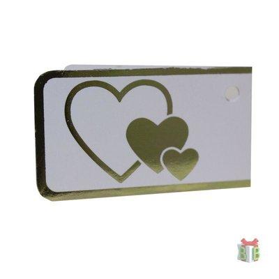 Minikaartje gouden harten