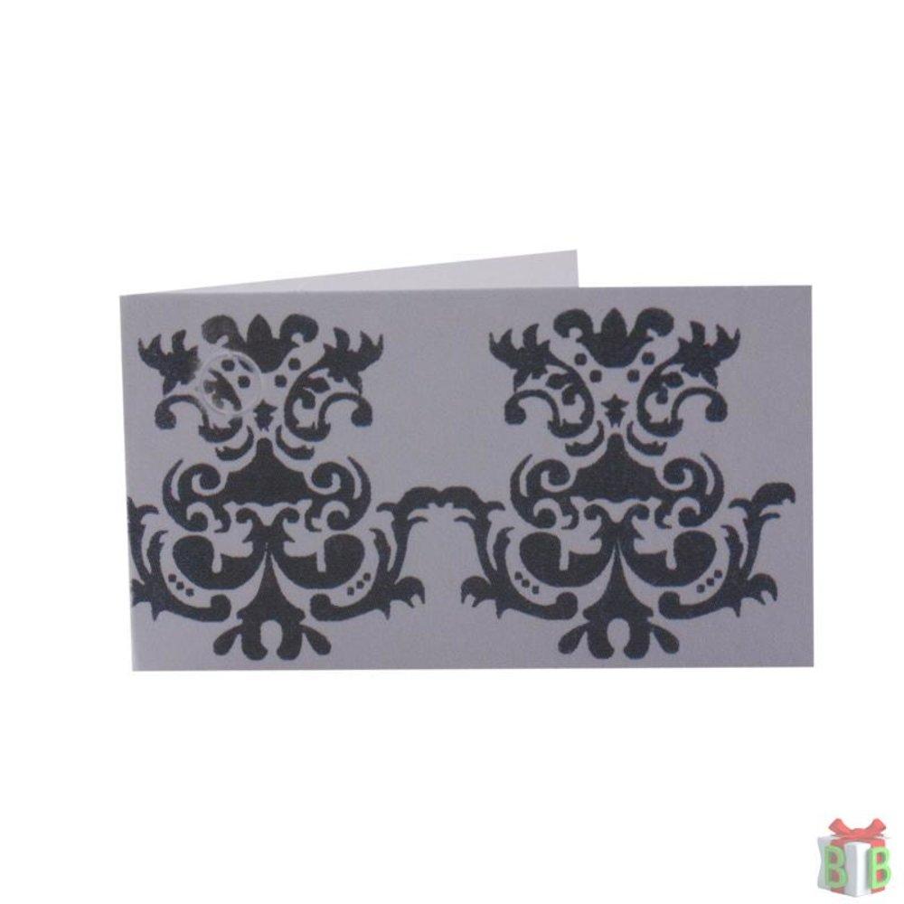 mini kaartje wit grijs modern
