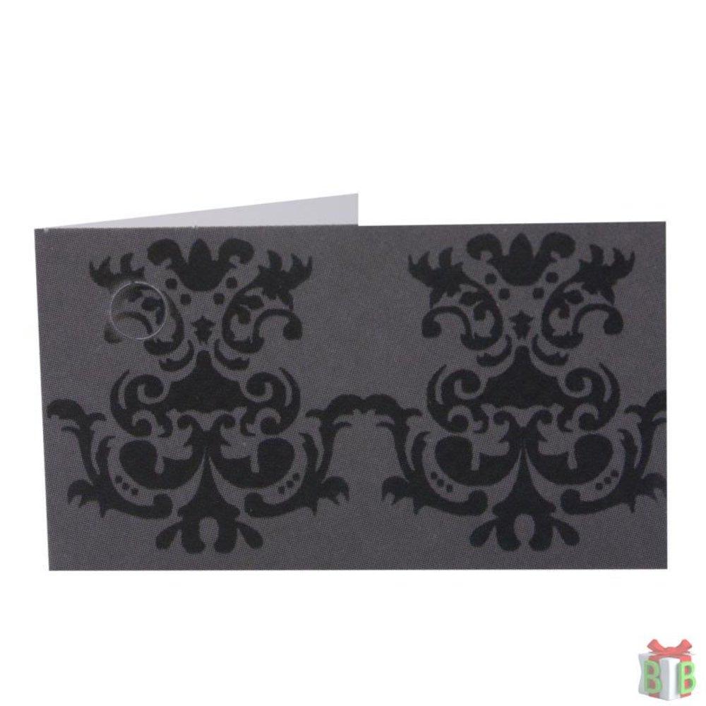 mini kaartje modern zwart