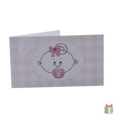 roze geruit kaartje