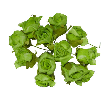Kleine groene kunstroosjes