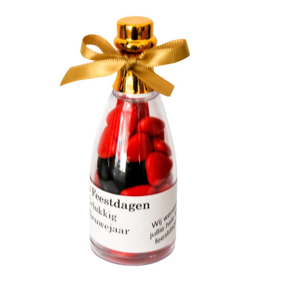 Kerst gift champagne fles