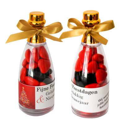 Kerstcadeautje - champagne flesje - alcoholvrije snoepjes