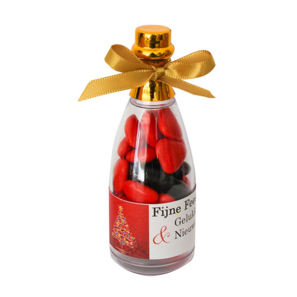Kerst gift champagne fles b