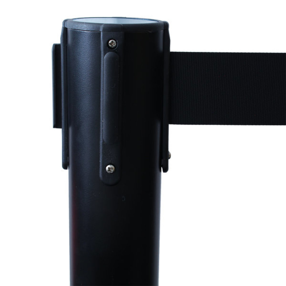 Afzetpaal zwart band