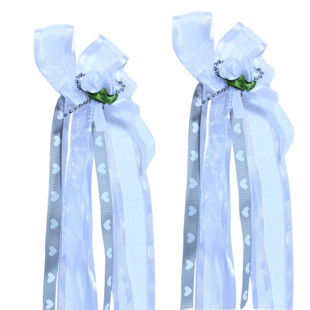 Antenne versiering wit grijs bruiloft