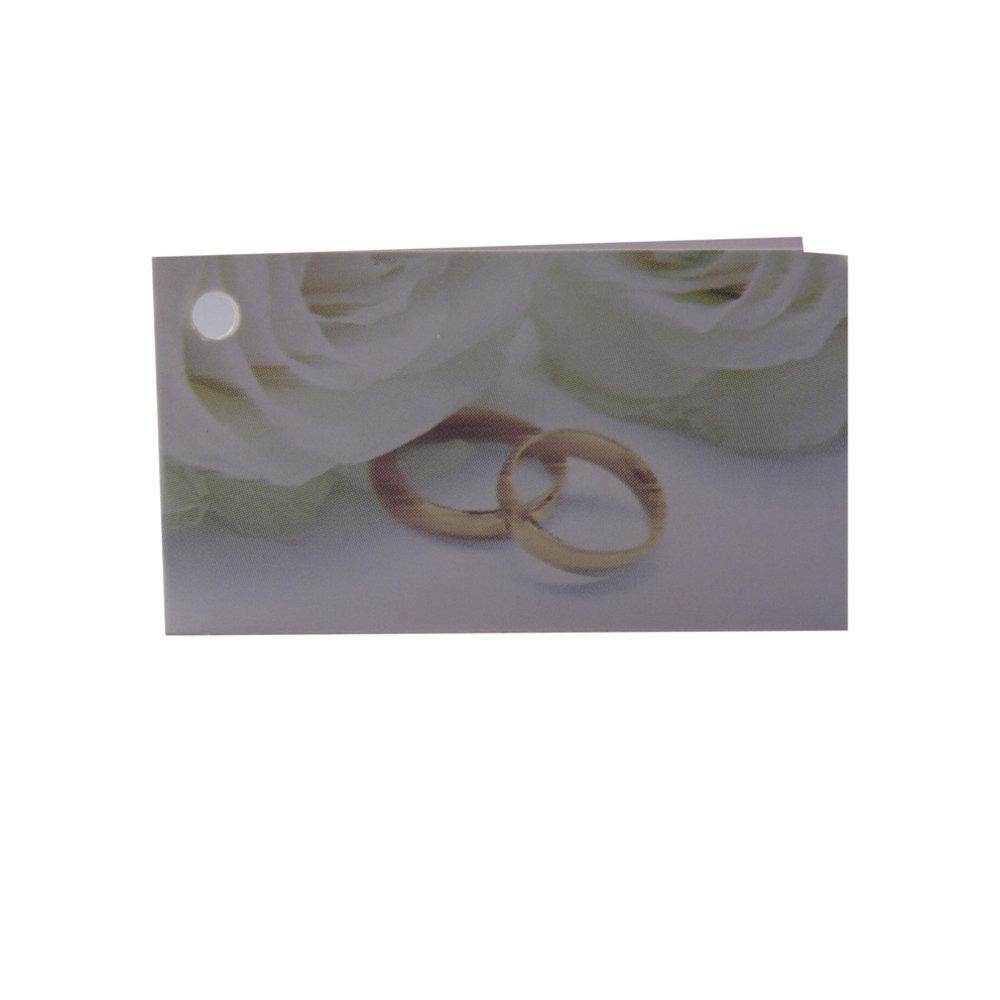 Minikaartje huwelijk ringen
