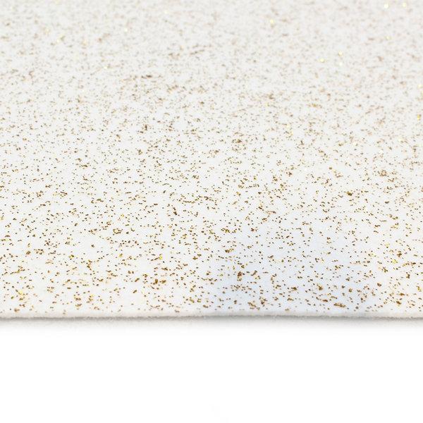 Loper wit glitter bovenzijde