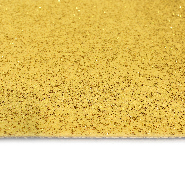 Gouden glitter loper gezien vanaf de bovenkant in detail