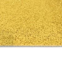 Gouden loper met glitters vanaf de bovenkant gezien in detail kleine afbeelding