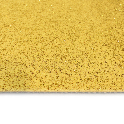 Gouden loper met glitters vanaf de bovenkant gezien in detail