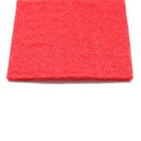 Rode loper naaldvilt vanaf de bovenkant gezien in detail kleine afbeelding