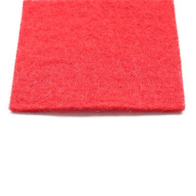 Rode loper naaldvilt vanaf de bovenkant gezien in detail