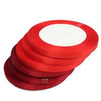 Rood satijn lint 6 mm kleine afbeelding