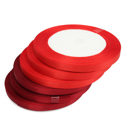 Rood satijn lint 6 mm