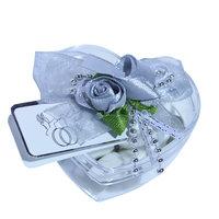 Hartendoos bedankje grijs roosje  kleine afbeelding