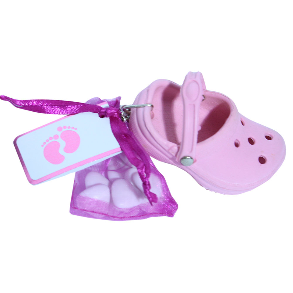 Sleutelhanger roze crocs