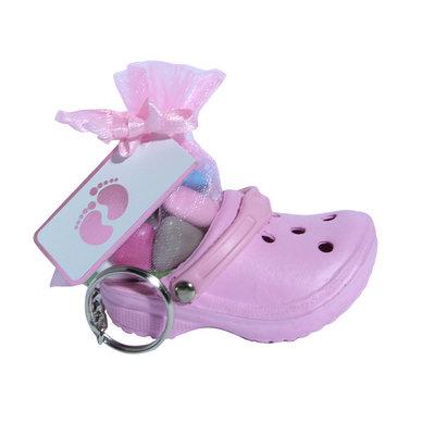 Sleutelhangers crocs roze