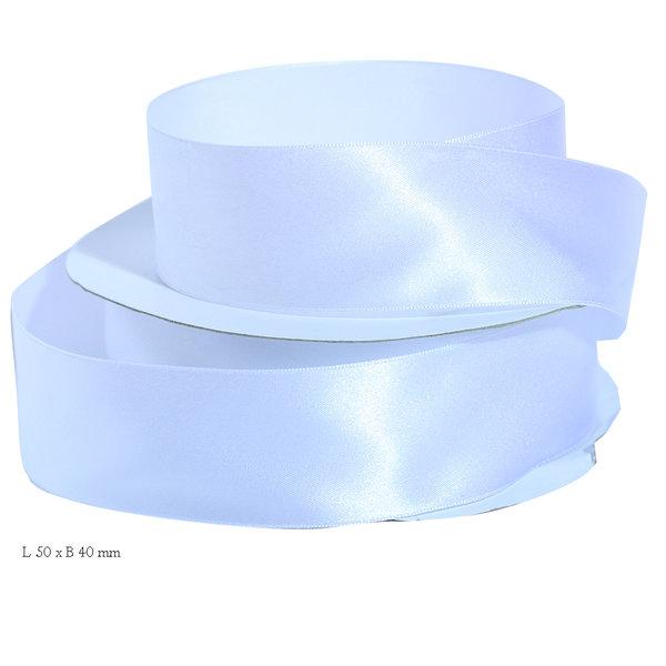 Satijn lint wit 40 mm
