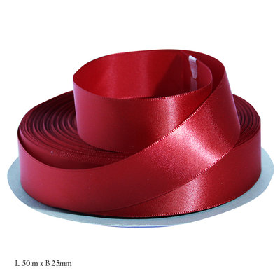 Rood satijn lint 25 mm
