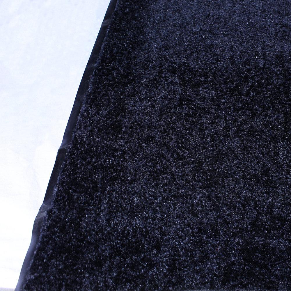 Droogloopmat zwart gemeleerd