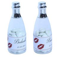 Huwelijksbedankjes champagne flesje kusmondje  kleine afbeelding
