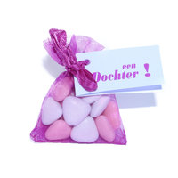 Tule snoepzakje roze  kleine afbeelding