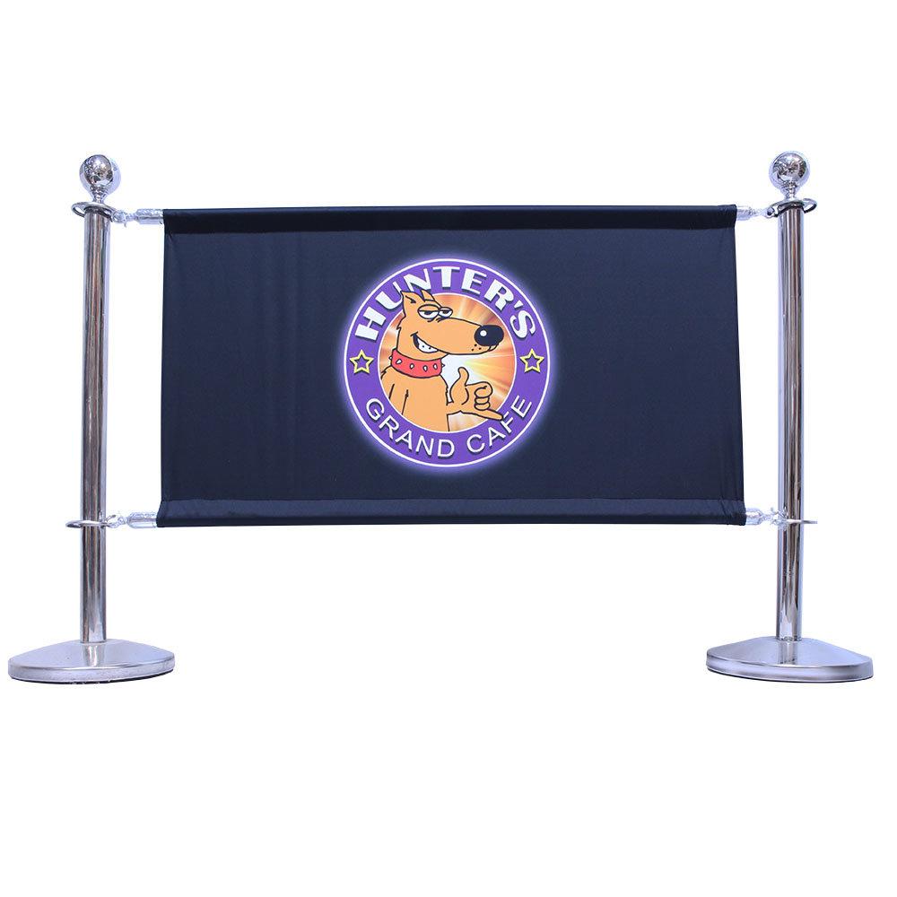 Afzetpalen met banner