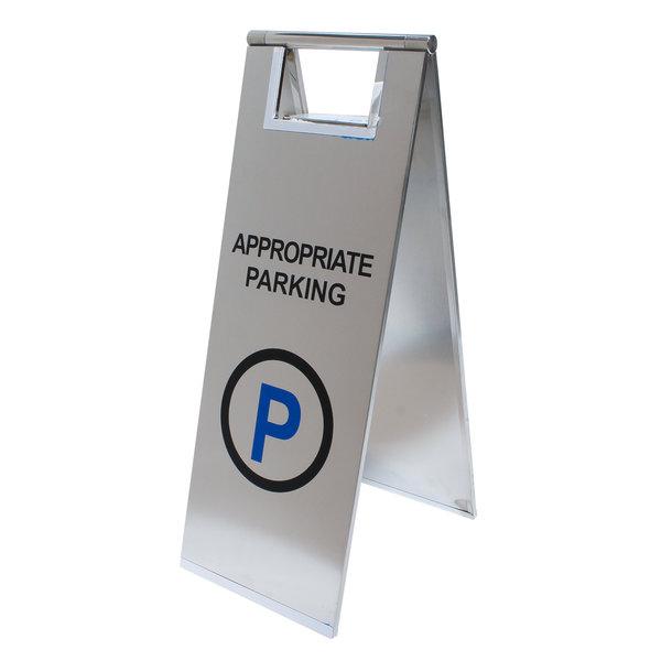 Informatiebordje hier parkeren