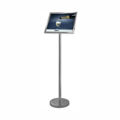 Display en informatiebord zilver menu hoog klein vierkant