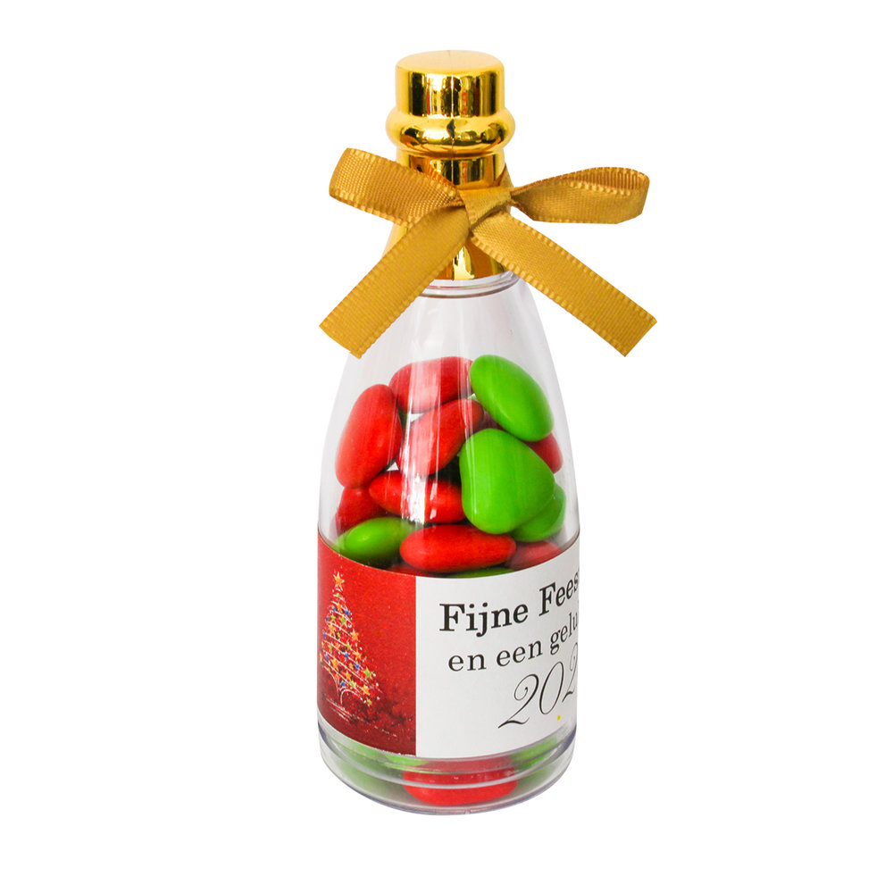 Kerst gift champagne fles a