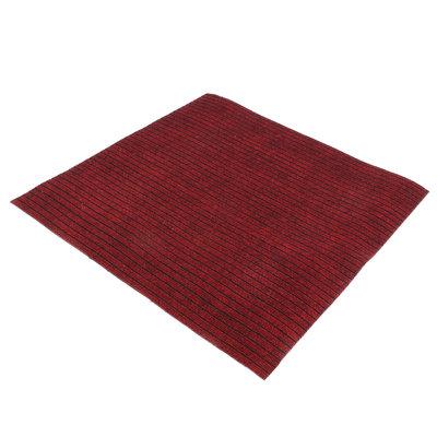 Schoonloopmat rood 100x100