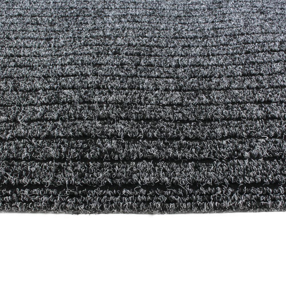 Schoonloopmat inloopmat grijs 100x100 detail