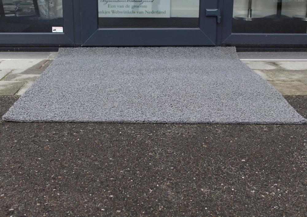 Entreemat grijs detail voor entree winkel