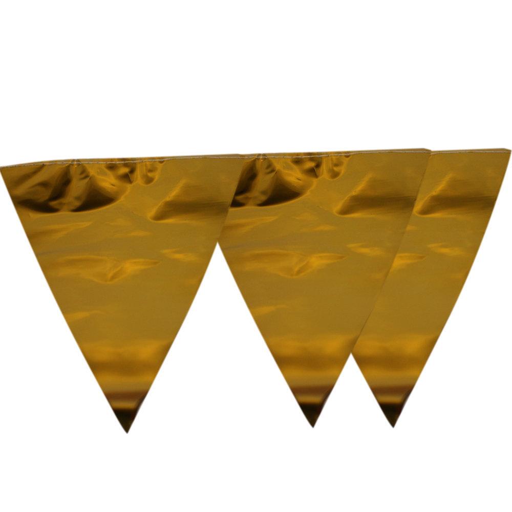 Vlaggenlijn Goud feestversiering