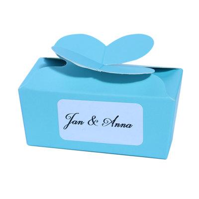 Klein blauw doosje