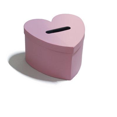 Enveloppendoos roze hart