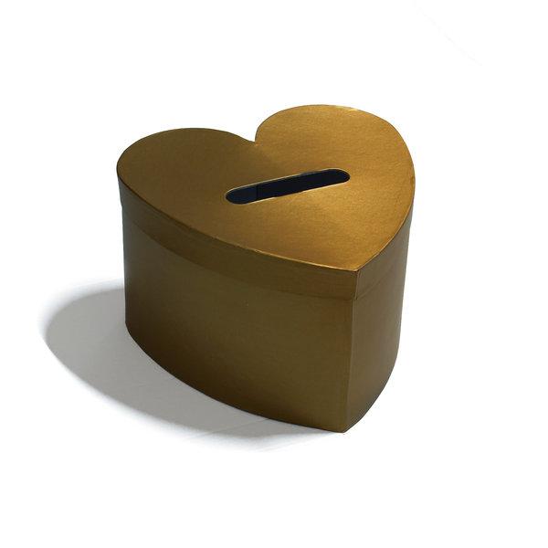 Enveloppendoos goud hart