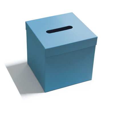 Enveloppendoos blauw vierkant