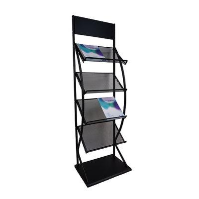 Folderrek folderhouder - zwart - A3 formaat - J14B