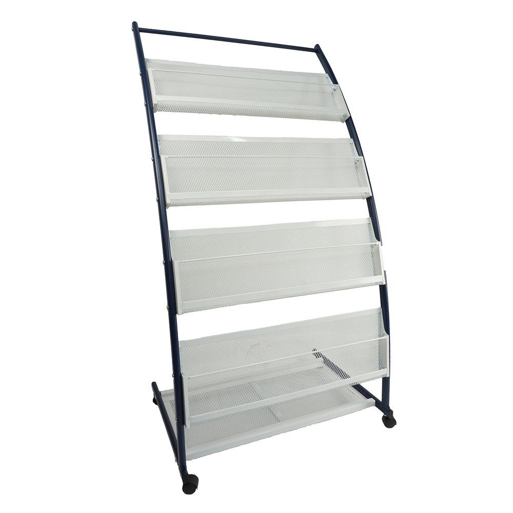 Folderrek folderhouder - grijs/zwart - J5