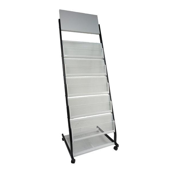 Folderrek folderhouder - grijs/zwart - J1 J2