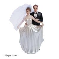 Taarttopper bruidspaar 17 cm kleine afbeelding