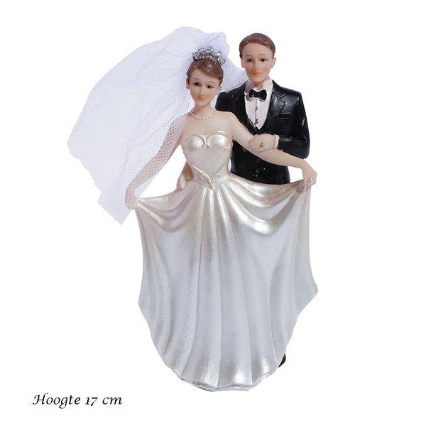 Taarttopper bruidspaar 17 cm