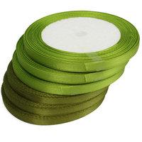 Groen satijn lint 6 mm kleine afbeelding