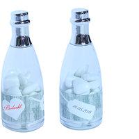 Bedankje Champagne fles met labels  kleine afbeelding