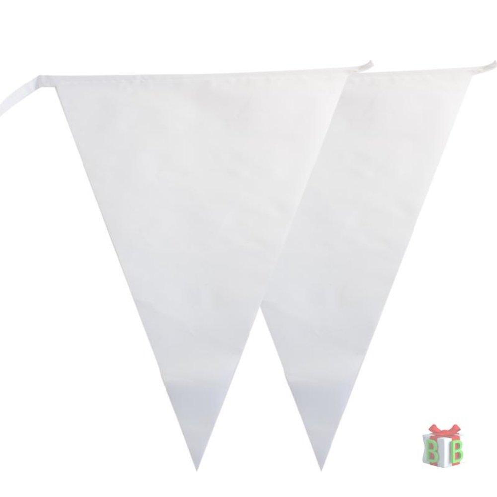 Witte vlaggelijn 10 meter lang
