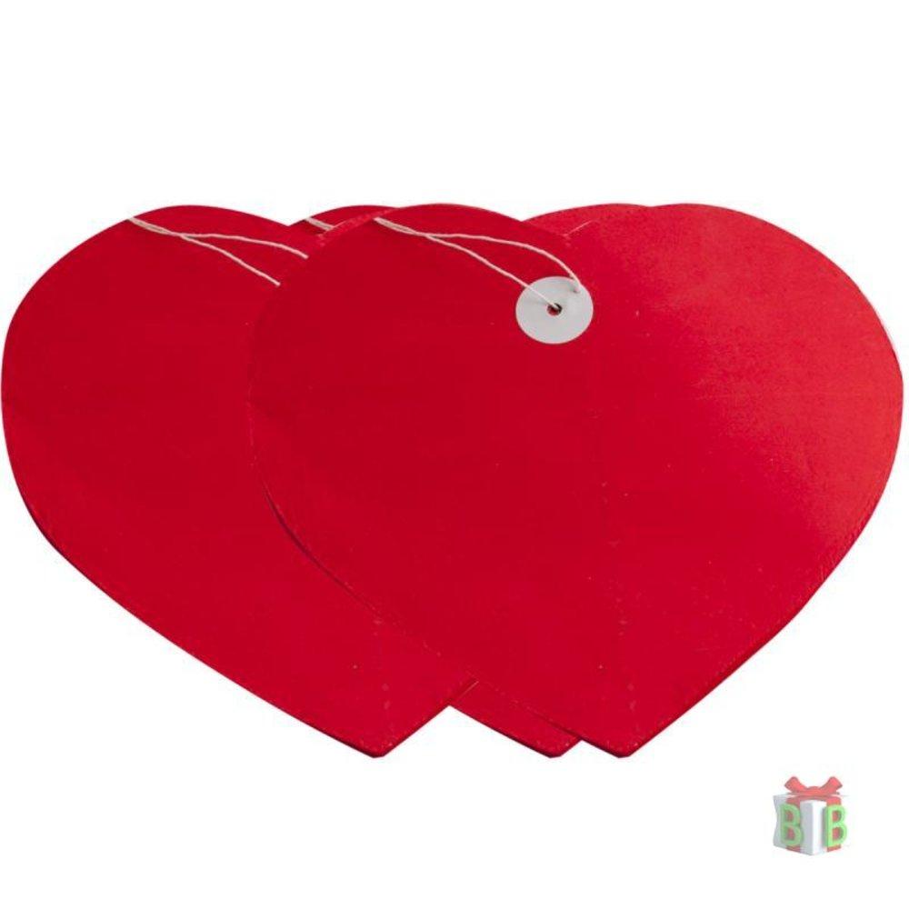 Harten slinger rood groot
