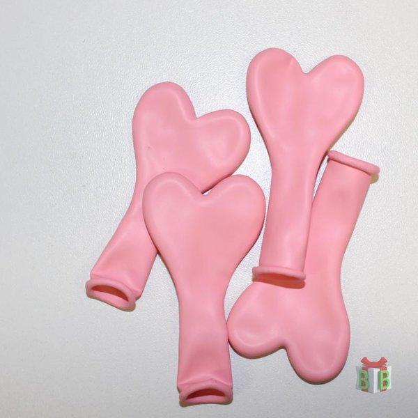 ballon roze mini hartjes