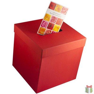 enveloppendoos vierkant rood